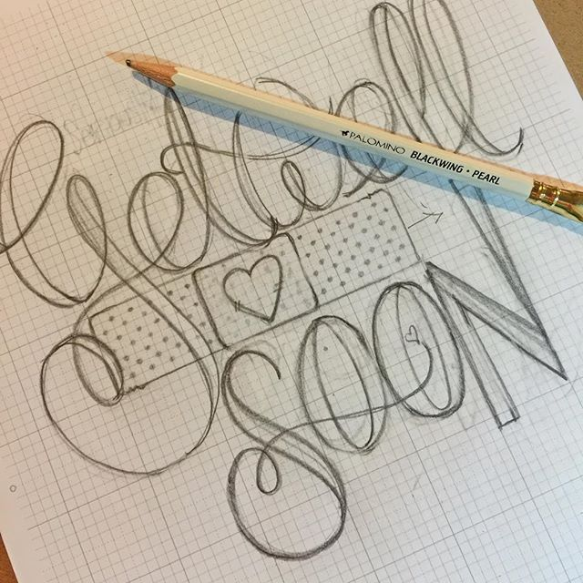 """Get Well Soon"" Hand Lettering"
