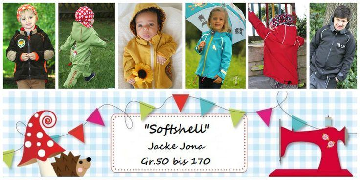 """Nähanleitungen Kind - E Book Jona """"Softshell"""" Jacke Gr.50-170 - ein Designerstück von Lolletroll bei DaWanda"""