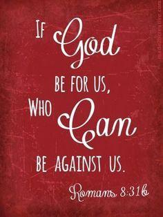 Romans 8:31b Bible Verse (KJV) - Made 2 B Creative Blog