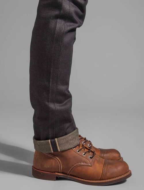 I find I'm uncomfortable not cuffing my denim. I like the feel of an anchor ~ Old Man Fancy.