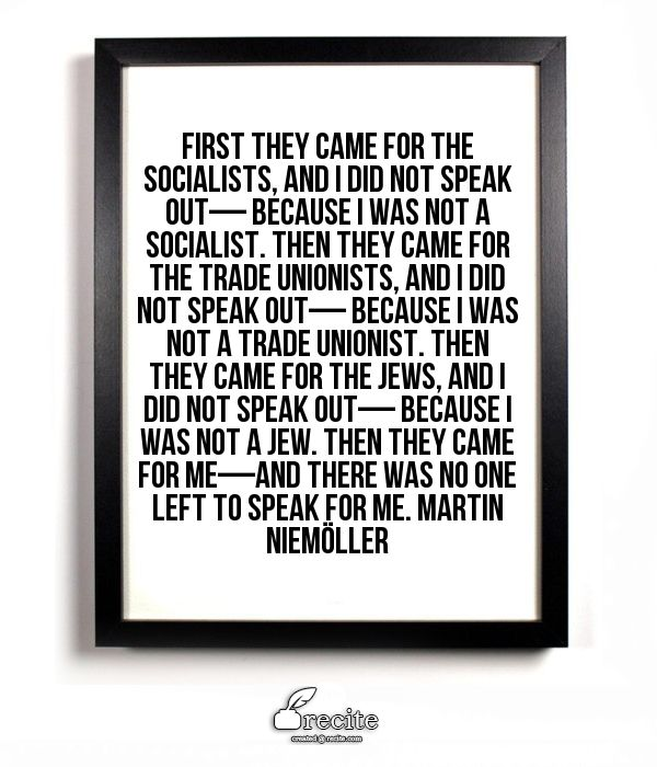 ...then they came for the Trade Unionists.........