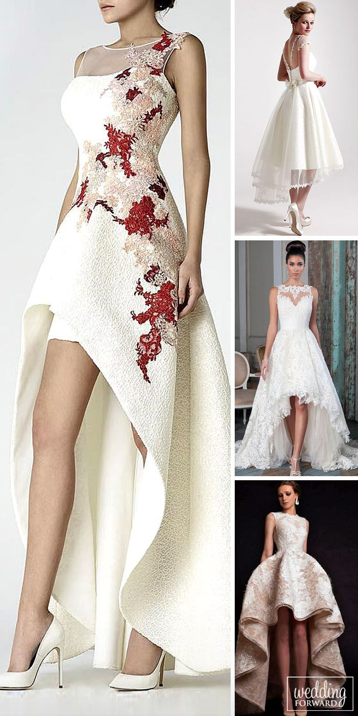 Top 21 High Low Wedding Dresses ❤ High Low wedding dresses are unconventional, but they are as elegant and chic as the classic wedding dress. You'll be more mobile, remaining attractive and charming. See more: http://www.weddingforward.com/high-low-wedding-dresses/ #wedding #dresses #highlow
