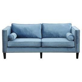 how about a blue velvet sofa?!: Blue Velvet Sofas, Living Rooms, Accent Pillows, Cooper Blue, Velvet Upholstery, Studios Couch, Dennings Decor, Furniture, Cooper Sofas