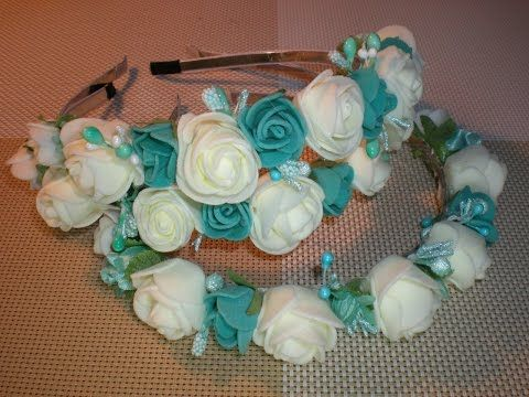 Свадебный ободок на девичник для подружек невесты своими руками. / DIY / Wedding Flowers - YouTube