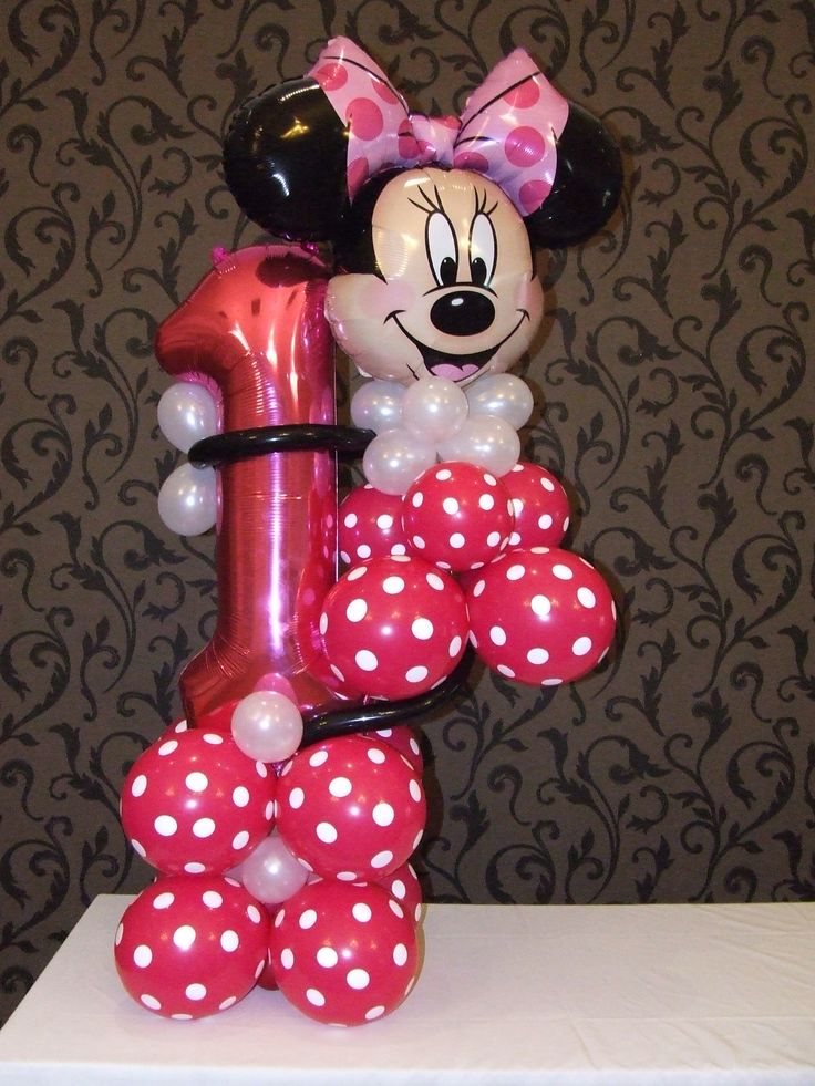 1000 ideas about mickey mouse balloons on pinterest for Balloon decoration minnie mouse