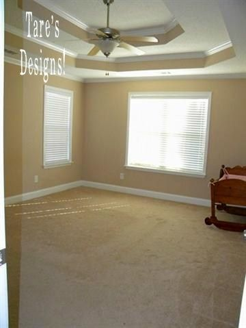 Emberely in Thornbrooke: Home I had designed on a budget. Master Bedroom  complete with. Trey CeilingCustom ...