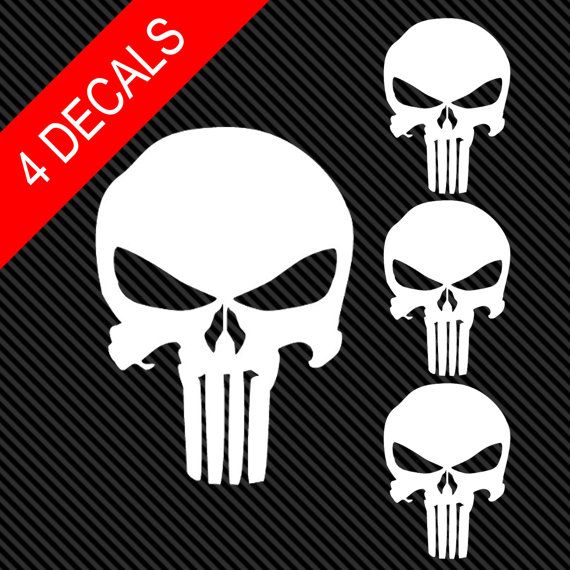 The punisher skull vinyl window decals marvel
