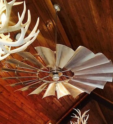 Galvanized Windmill Ceiling Fan
