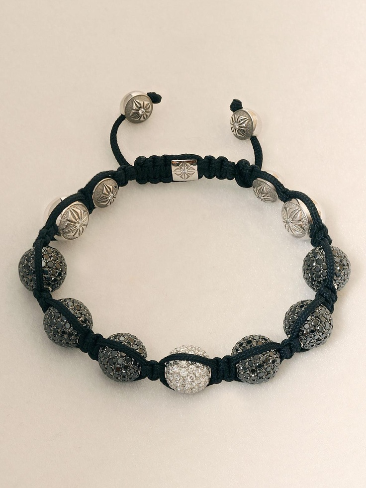 Get the Look - Shambhala Bracelets - there's a link on the website to a tutorial on how to make it