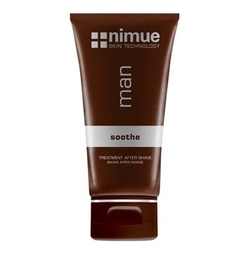 Treatment After Shave. A light, cooling, soothing multi-active treatment balm based on DMAE and essential oils to soothe, tone, moisturise and revive the skin after shaving. 100ml. Nimue Skin Technology.