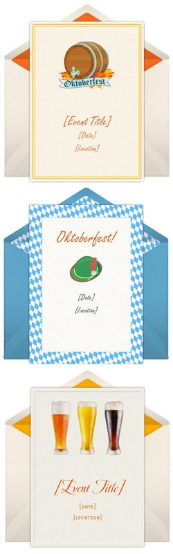 Free Oktoberfest Invitations with the look and feel of paper