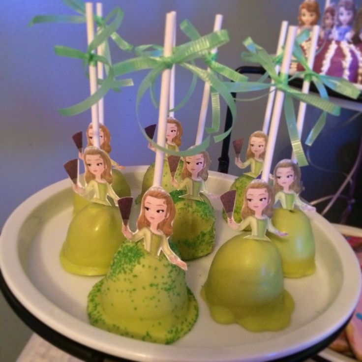 Cake Pops Sofia The First Royal Tea Party Birthday