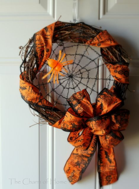 I have a wreath I made like this... But I want to add the web! It will give it a nice refresh this Halloween season!!!
