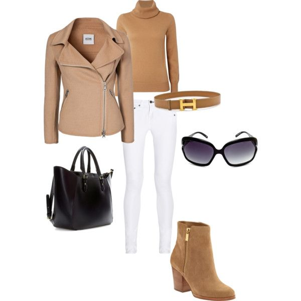 Yolanda foster inspired -  love the shoes sweater and jacket... Can't do any skinnies, especially not white!
