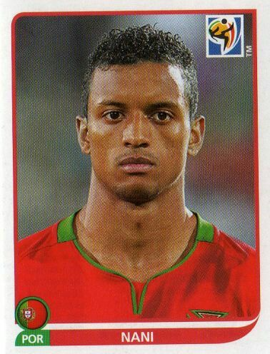 Nani of Portugal. 2010 World Cup Finals card.