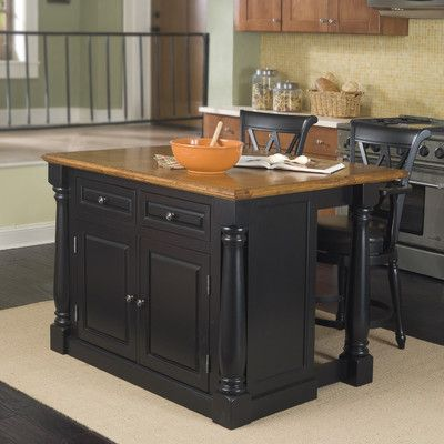 """$726 plus about $100 shipping Home Styles Monarch Kitchen Island. 36""""H x 46""""W x 25""""D with leaf folded down. With leaf extended (combo counter/ pub table) then the dimensions are: 36""""H x 46""""W x 40.5""""D."""