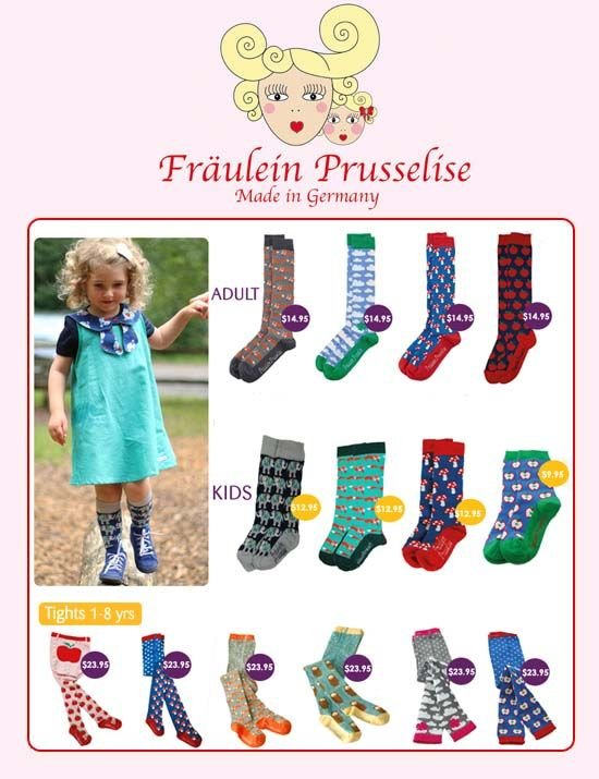 Let your little one step out in style this winter with a cool pair of tights or socks from cult labelFräulein Prusselise. This German label is the brainchild