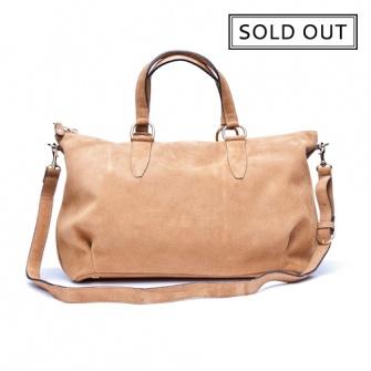 IT LONDON: Suede honey shoulder and handbag