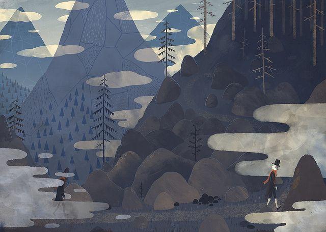 Poetic illustration by Chuck Groenink: http://cargocollective.com/greenink