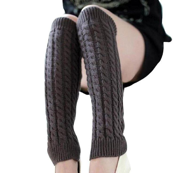 Amazon | Tonsee レディーズ レッグウォーマー ニット ロングソックス 女性用 美脚 暖かい 足首ウォーマー (グレー) | ストッキング 通販
