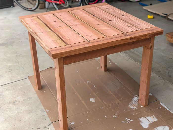 diy patio table outdoor dining table