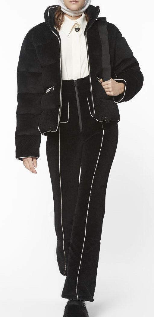 Chanel - Coco Neige Collection   Black velvet blouson   jumpsuit ( 5,800 +   3,300) 4d6ab2492f3