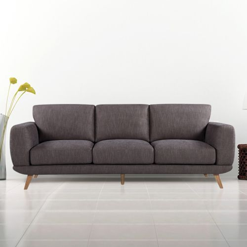 Super Modern Stylish Brown Alaska Sofa 3 Seater Cheap Leather Spiritservingveterans Wood Chair Design Ideas Spiritservingveteransorg