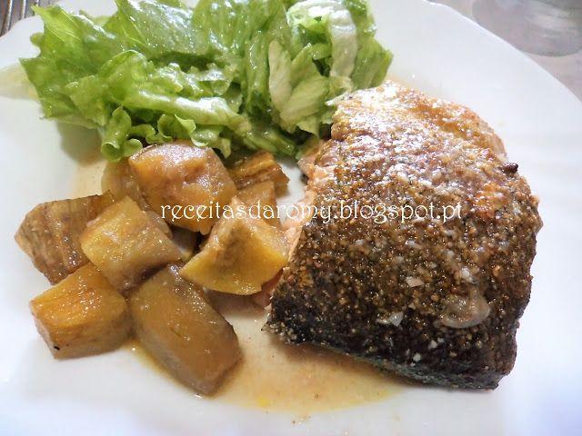 Receitas da Romy: Truta salmonada assada no forno com batata doce e ...