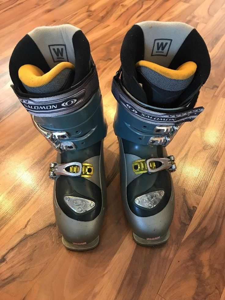 Salomon Ellipse 8.0 Women's Ski Boots Sz 7.5 Gray 25.0 Downhill Skiing  | eBay
