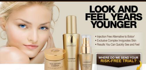So, the option left is: using #Luminique's anti aging formula.