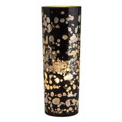 Black & Gold Glass/Chrome Lamp