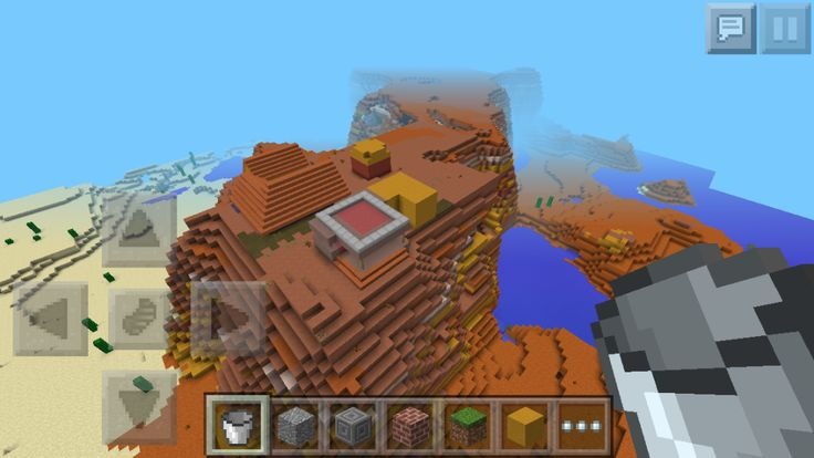 Minecraft PE Seed Mesa Clay Village