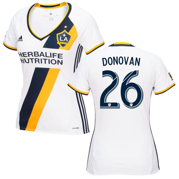 Landon Donovan LA Galaxy adidas Women's 2016 Primary Replica Jersey - White - $104.99