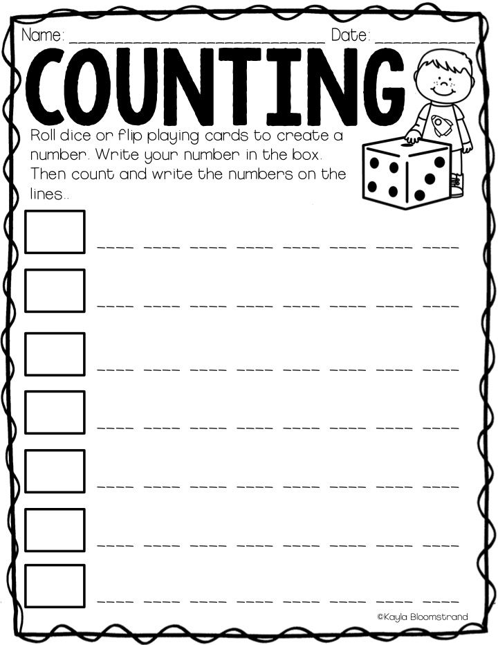 Practice counting on using this differentiated printable