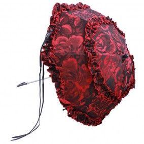 Ombrelle Gothique Phaze Val Rose - Boutique Gothique Romantique Gothyka