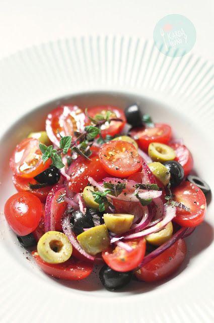 Kardamonovy: Sałatka z pomidorów i oliwek