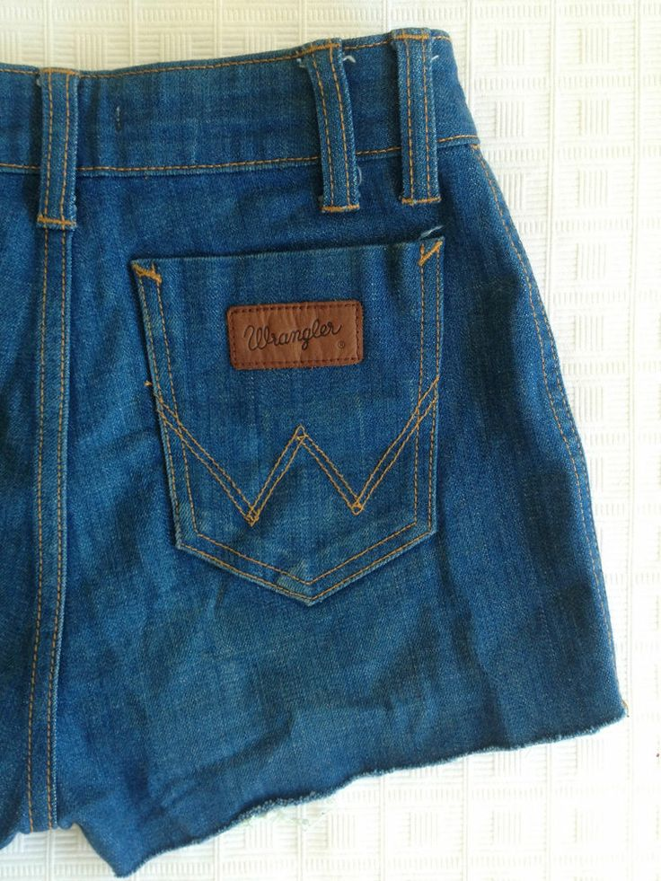 Ladies Wrangler Cut Off High Waisted Mini Shorts - Size 6 - Now Selling! Click through to go to eBay auction.