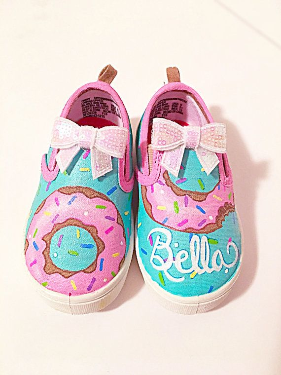 Custom donut canvas shoes Kids/toddler/adult by BellaLaceBoutique