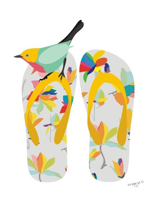 Studio ArtOcrat: Yellow Flip Flops