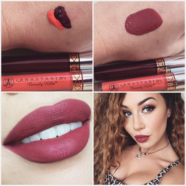 """""""Afternoon darlings I'm obsessing over @anastasiabeverlyhills liquid lipsticks still and my favourite thing to do is mix them ! Endless shades to be…"""""""