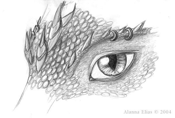 SciFi and Fantasy Art Detailed Dragon Eye by Alanna (Solenna) Elias