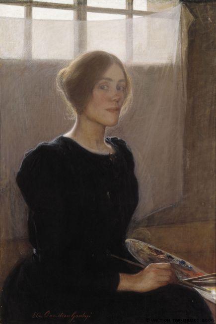 Elin Danielson Gambogi, Self Portrait, 1900