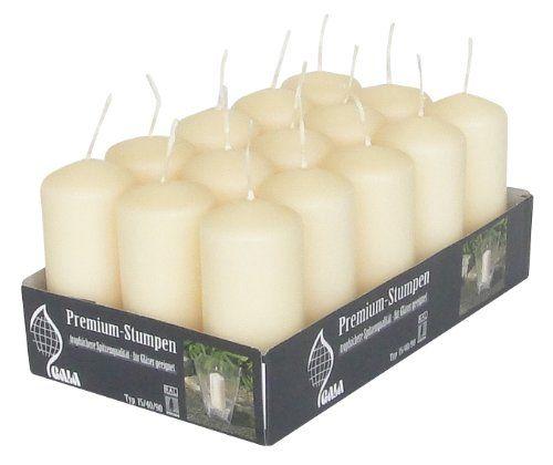 Premium-Stumpenkerze Typ 15/40/90, 15er-Pack: Amazon.de: Küche & Haushalt