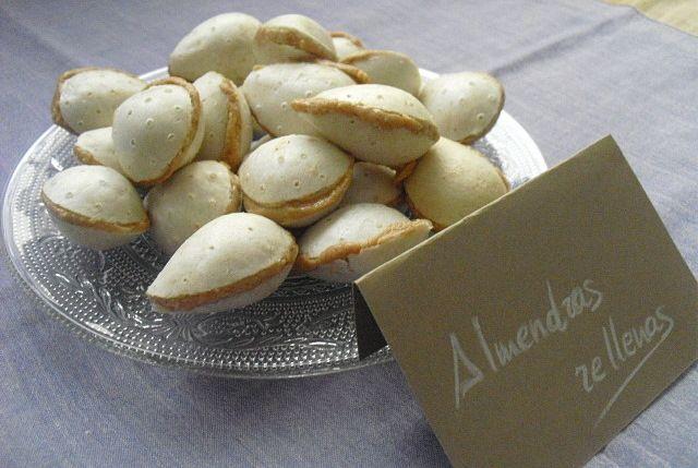 las recetas de mi abuela: ALMENDRAS RELLENAS