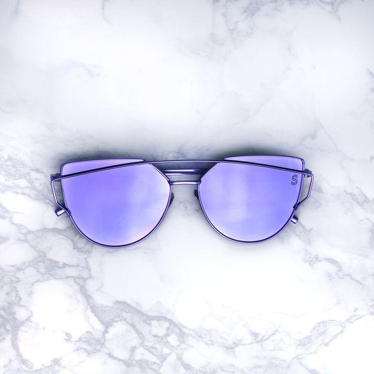 - UV 400 - Metal Frames - Polycarbonate Mirror Lens Purple mirrored lenses