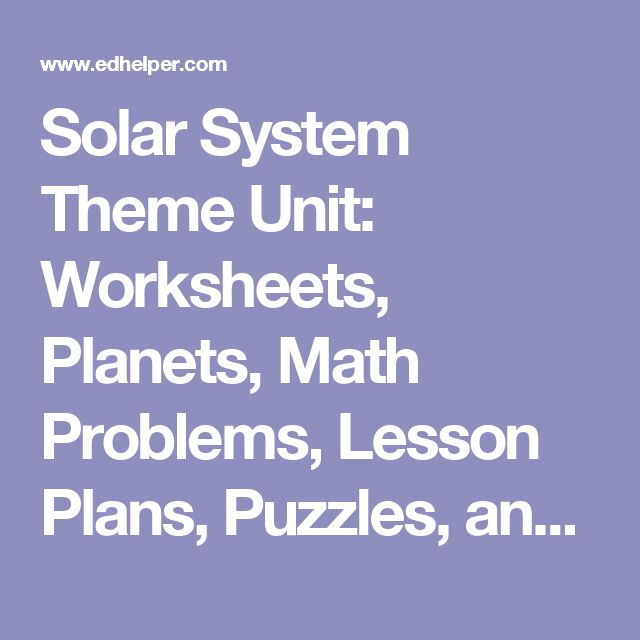 17 best ideas about Solar System Worksheets on Pinterest   Planet ...