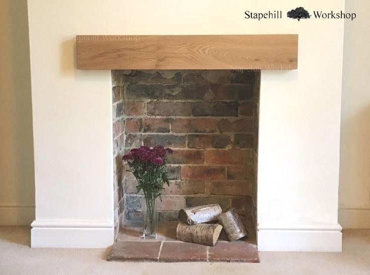 Solid Oak Mantle, Fireplace Lintel Beam, Mantel Shelf, Easy Fit, 45mm Depth, Various lengths, Light - Stapehill Workshop