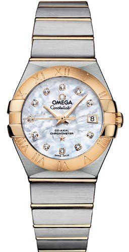 Omega Constellation White Mother of Pearl Dial Ladies Watch 12320272055003 -- Cl...