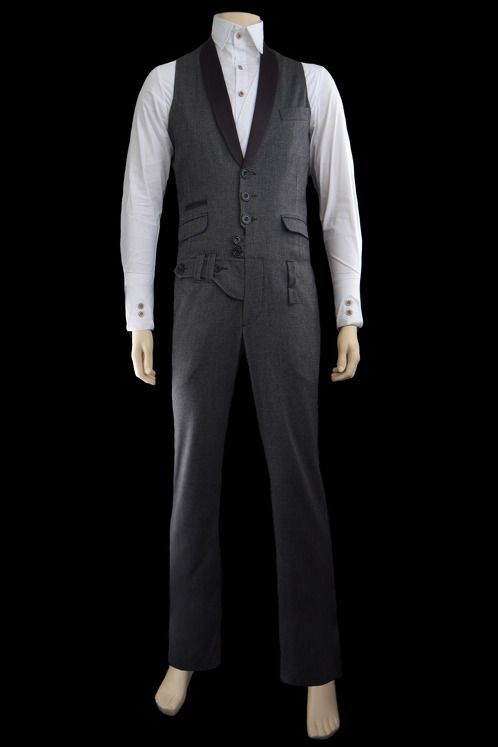 https://www.cityblis.com/8143/item/16720 | JUMPSUIT ROBERT - $1504 by Daniel Karaffa | -Satin lapels  -Small jetted pocket with satin detail  -Jetted flap pocket  -Ticket pocket  - Slim Fit  -lining poly-rayon( waistcoat part only)  -Slash pockets at front (trousers part)  - Outer 100% wool | #Suits
