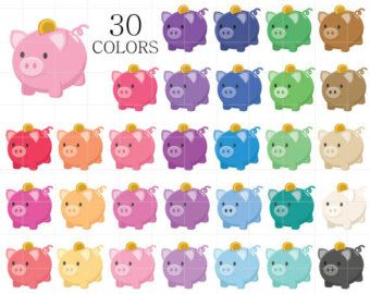 Kawaii clipart, money clipart, budget clipart, kawaii coin ...